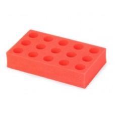 Ohaus Foam Test Tube Rack (50ml tubes x 15 Place) RED, suit VXMTDG & VXMTAL