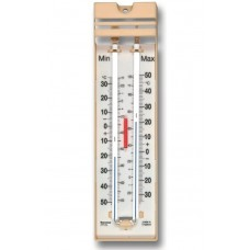 Brannan Lo-tox blue fill Max Min Thermometers, -30 to 50°C, Push Button Reset