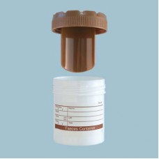 70ml Faeces Sample Jar, Polypropylene, Labelled, Box 500