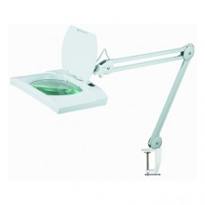 WIDE Lens Magnifier Lamp with LED lighting, Clamp