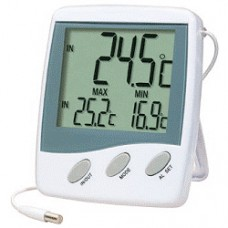 Indoor/Outdoor Thermometer With Alarm