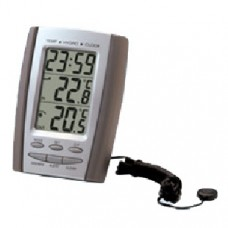 Indoor/Outdoor Thermometer, Hygrometer & Clock
