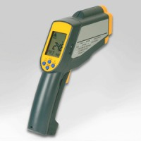 2-in-1, IR Gun Thermometer with Thermocouple Connection, 1,500°C