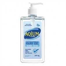 Aqium, Antibacterial Hand Gel, 375ml Pump Pack