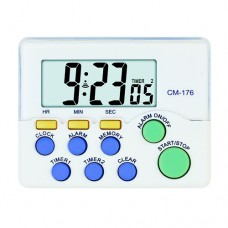 DUAL Channel 24 Hr Up/Down Timers & Alarm Clock