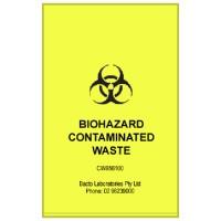 Yellow Biohazard Contaminated Waste Bags, 56 x 100cm, Box 100
