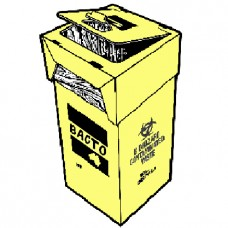 47L Contaminated Waste Bins With Lid & Liner, Disposable